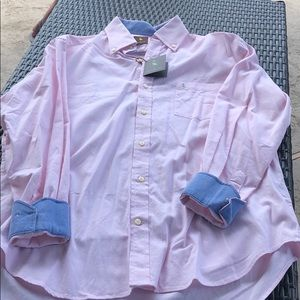 Tailorbyrd baby pink button down